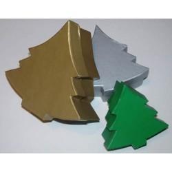 3 pudełka choinki z kolorowego kartonu duże