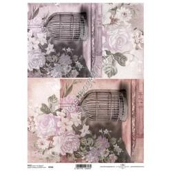 Papier ryżowy ITD Collection 764 - Klatki dla ptaków