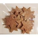 Gwiazdki z mikrogumy brokatowej - stare złoto