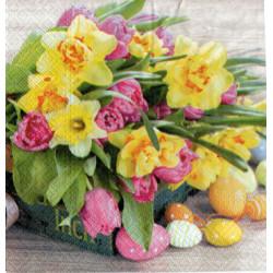 Serwetki do decoupage - pisanki i kwiaty