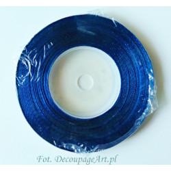 Tasiemka satynowana niebieska