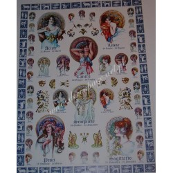 Papier Celina do decoupage 50 x 70 cm Zodiac WaterFire