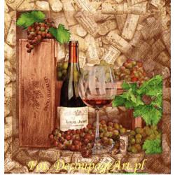 Serwetki do decoupage - chleb i wino