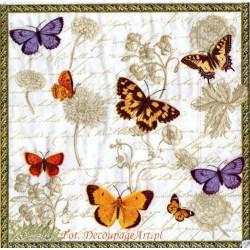Serwetki do decoupage - motyle brązowe