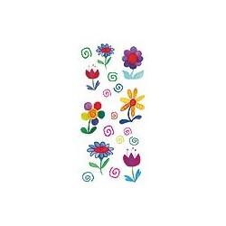 Naklejki 3D 6,5x13,5 cm - wiosenne kwiatki
