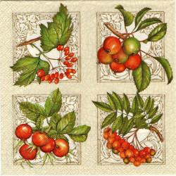 Serwetki do decoupage - jesienne owoce cztery razy