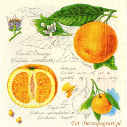 Serwetki do decoupage - sweet orange