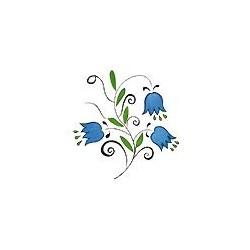 Naklejki 3D 10 x 10 cm - niebieskie kwiatki