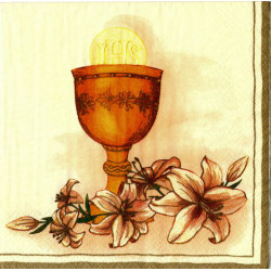 Serwetki do decoupage - kielich i lilie
