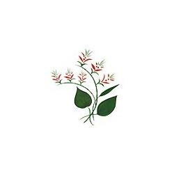 Naklejki 3D 10 x 10 cm - czerwone kwiatki