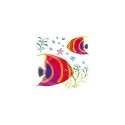 Naklejki 3D 10 x 10 cm - ryby czerwone