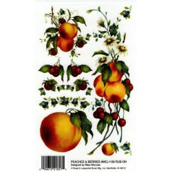 Kalkomania artystyczna - Rub On brzoskwinie i jagody