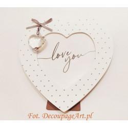 MDF - ramka serce w sercu 15 cm