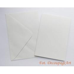 Kartka passe-partout bez wycięcia 5 sztuk perłowo-biała