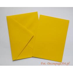 Kartka passe-partout bez wycięcia 5 sztuk żółta
