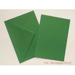 Kartka passe-partout bez wycięcia 5 sztuk zielona