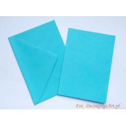 Kartka passe-partout bez wycięcia 5 sztuk błękitna