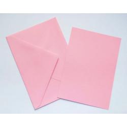Kartka passe-partout bez wycięcia 5 sztuk różowa
