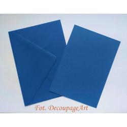 Kartka passe-partout bez wycięcia 5 sztuk niebieska