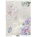 Papier ryżowy ITD Collection 1060 hortensje i motyle