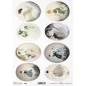 Papier ryżowy ITD Collection 1874 kobiety Louisa Icarta