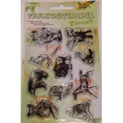 Komplet przezroczystych stempelków - Dzikie zwierzęta