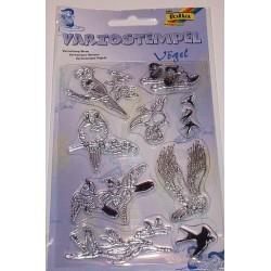 Komplet przezroczystych stempelków - Ptaki