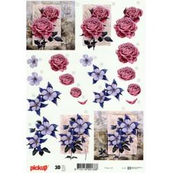 Motywy 3D do dekorowania 105 - róże i anemony