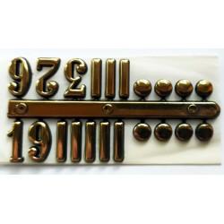 Cyfry zegarowe arabskie czarne (3,6,9,12) plus znaczniki 15mm