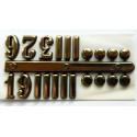 Cyfry zegarowe arabskie złote (3,6,9,12) plus znaczniki 15mm