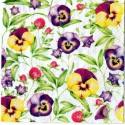 Serwetki do decoupage - bratki i kwiaty koniczyny