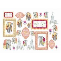 Papier do decoupage  Soft 50x70 India 169