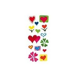 Naklejki 3D 6,5x13,5 cm - serca