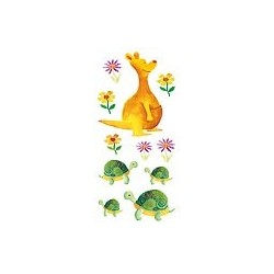 Naklejki 3D 6,5x13,5 cm - kangur