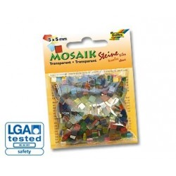 Mozaika transparentna mix 700 elementów.