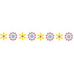 Szablon Bordiurowy 3 kwiatki 6 x 28 cm