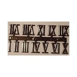 Cyfry zegarowe rzymskie (I-XII) - 15 mm - samoprzylepne
