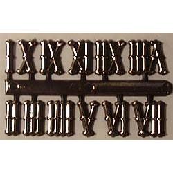 Cyfry zegarowe rzymskie(I-XII)-15 mm stylizowane - samoprzylepne