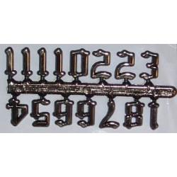 Cyfry zegarowe arabskie (1-12)-15 mm stylizowane - samoprzylepne