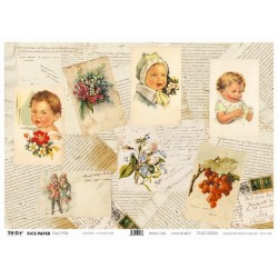 Papier ryżowy TO-DO do decoupage - Antique Cards