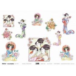 Papier ryżowy TO-DO do decoupage - Japanese Geishas