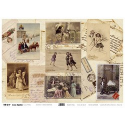 Papier ryżowy TO-DO do decoupage - Vintage Greetings