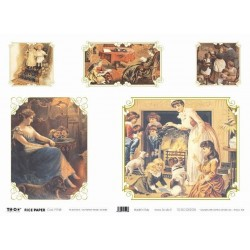 Papier ryżowy TO-DO do decoupage - Victorian Family Scenes
