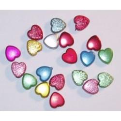 Dekoracyjne, akrylowe koraliki serca 5 gr