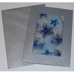 Kartka passe-partout z kalką gwiazdki niebieskie