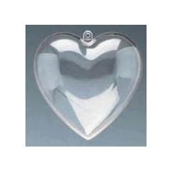 Serce transparentne małe 60 mm