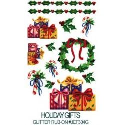 Kalkomania artystyczna lśniąca - Holiday Gifts