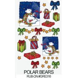 Kalkomania artystyczna - Polar Bears