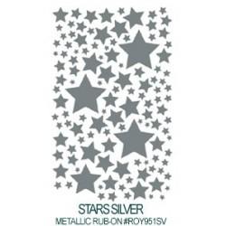 Kalkomania artystyczna metaliczna - Stars Silver