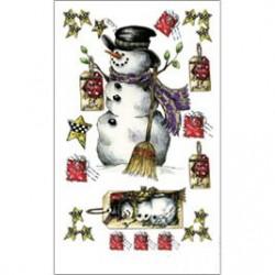 Kalkomania artystyczna - Send A Snowman